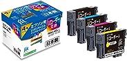 ジット 日本製 プリンター本體保証 エプソン(EPSON)対応 リサイクル インクカートリッジ RDH-4CL (目印:リコーダー) 4色セット対応 JIT-NERDH4P