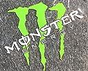 モンスターエナジー (オリジナル白斜め) 車 バイクに最適! 防水カッティング ステッカー 並行輸入品