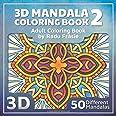 3D Mandala Coloring Book 2: Adult Coloring Book