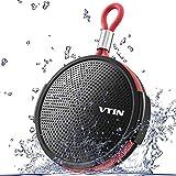 VTIN Bluetoothスピーカー ワイヤレススピーカー 小型スピーカー IPX5防水仕様 防塵&防水 5W出力 8時間連続再生 高音質 内蔵マイク搭載 お風呂 iPhone/Android対応