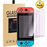 Nintendo Switch Screen Protector (3 Pack), Reayouth Premium Tempered Glass Screen Protector for Nintendo Switch (2017)