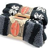 靴下 メンズ 暖かい ふんわりソフトタッチ ふわふわソックス モノトーンシリーズ 4足セット