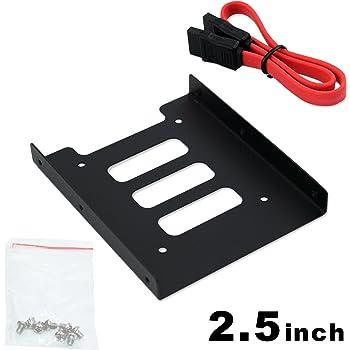 2.5インチHDD/SSD用→3.5インチサイズ変換ブラケット 含む 1x SATAケーブル