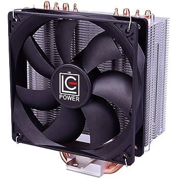 CPUクーラー CPUファン LC-CC-120A 120mmサイドフロー型 銅ヒートパイプ アルミ放熱フィンIntel/AMD両対応 高熱伝導率 高熱吸収力 静音性 初心者 ゲーム用 仕事用
