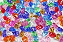 Bulk Pirate Jewels and Gems Ice Rocks, 0.5kg Bag, 160 pieces Assorted 10 Different colours in Bag