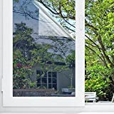 (Silver) - OUBAY Window Film One Way Mirror Film Privacy Mirror Adhesive Residential DIY Window Film Heat Control Glare Control Anti UV Window Tint for Home and Office 17.7