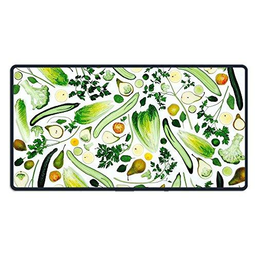 40*75CM超大型 マウスパッド 果物緑色のスムージー 光学式 ゲーミング ゲーム向け 防水 滑り止め 耐洗い表面 キーボード オフィス テーブル デスクマット