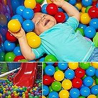 AHZzYカラフルボールソフトプラスチック海洋ボール、ベビー子供用Swim Pit Ballsおもちゃパーティ用イベントPlaygroundゲームプール 50Pcs S00VT5A1004WI1F3
