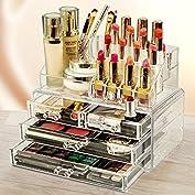 化粧品収納ボックス メイクケース コスメ収納スタンド コスメ収納ボックス 引き出し小物/化粧品入れ ...
