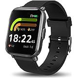 スマートウォッチ 腕時計 smart watch 最新 活動量計 歩数計 長持ちバッテリー 着信通知 5ATM防水 画面自由設定 長座注意 睡眠検測 アラーム 羅針儀機能 日本語アプリ 18種運動対応 IOS&Android対応