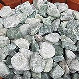 天然石 玉石砂利 3-4cm 30kg アイスグリーン (ガーデニングに最適 緑色砂利)