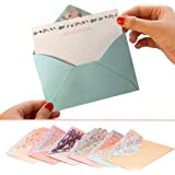 SCStyle 32 Cute Lovely Kawaii Special Design Writing Stationery Paper+16 Envelope 3.45 x5.4 Inch +1 Seal Sticker(Flower)