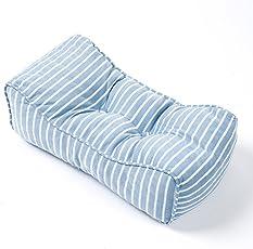 Magou(マゴウ) オフィス 椅子 車用 低反発クッション ランバーサポート 腰枕 背当て 腰痛対策 健康クッション 腰まくら (ブルー)