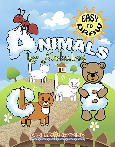 EASY to DRAW Cartoon Animals: 26 Step-by-Step Drawings (How to Draw for Kids and Adults) (English Edition)