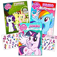 My Little Pony Colouring Book Super Set with Stickers (3 Jumbo Books - Approximately 200 Pages and 30 My Little Pony Stickers Total Featuring Rainbow Dash, Fluttershy, Pinkie Pie and More )
