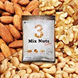 3種 プレミアム ミックスナッツ 1kg 4月産地直輸入 無塩 無添加 食物油不使用 (アーモンド40% 生くるみ40% カシューナッツ20%)