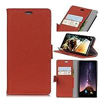 HTC U12 Life シェル,HTC U12 Life シェル,革のケース プレミアム PU レザー 財布 スナップ シェル 革のケース 革のケース フリップ カバー の HTC U12 Life Brown