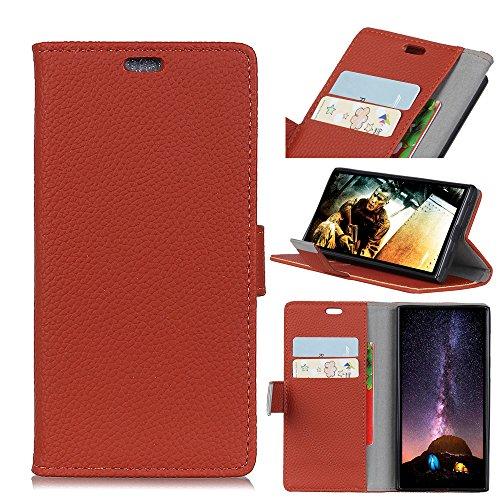 Xiaomi Mi 8 Lite ホルスター シェル フリップ, LoveBee カバー Suit プレミアム 垂直 レザー ポーチ スリーブ 携帯 シェル Protects ?と カード スロット ホルスター の Xiaomi Mi 8 Lite (Br