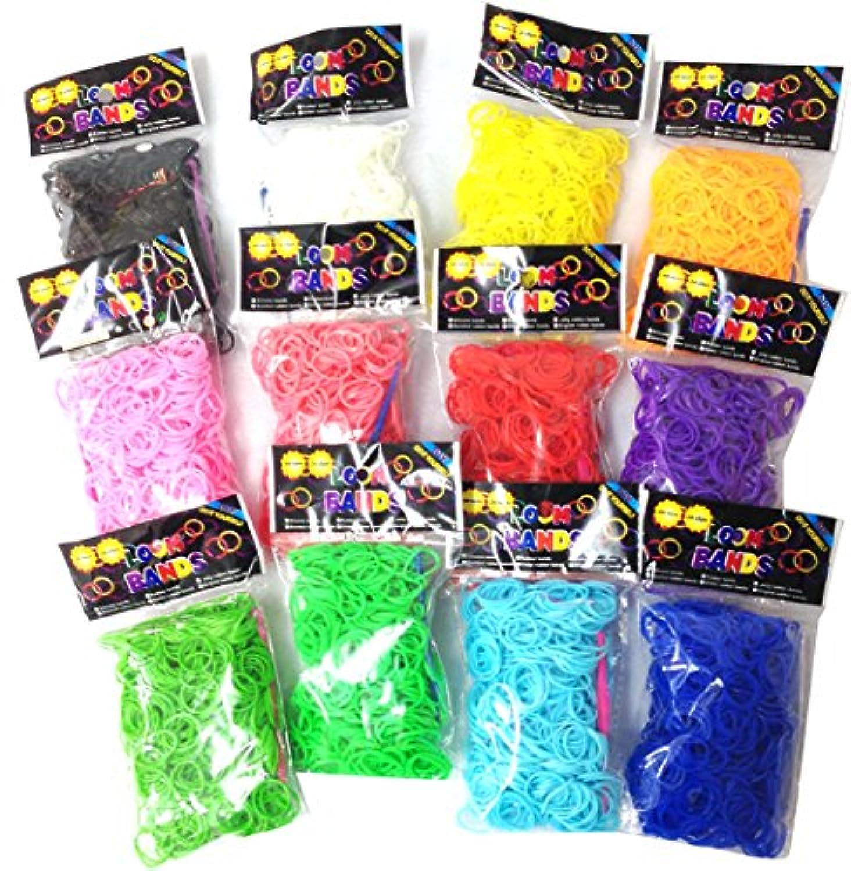 レインボールームで使用可能なカラーバンド メガパック 7200個 (12色×600個)