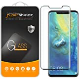 Supershieldz [2-Pack] for Huawei (Mate 20 Pro) Tempered Glass Screen Protector, [Full Cover][3D Curved Glass] Anti-Scratch, B