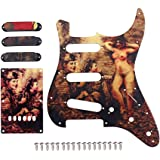 JDMoon Electric Guitar Pickguard Scratch Plate Single Coil Pickup Covers Fits Fender Stratocaster Strats Squier Strat Guitar