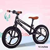 14 Inches Balance Bike for 2-7Years Old Boys Girls, Training Bicycle, No Pedal Walking Balance Bike for Kids and Toddlers