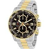 [インビクタ] 腕時計 Specialty 石英 45mm ケース スチール ゴールド ステンレス鋼ストラップ ブラックダイヤル 14876 メンズ 正規輸入品 シルバー