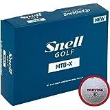 BRIEFING x Snell MTB-X-白(1箱12個入り) ブリーフィングロゴ日本正規品スネルゴルフ MTB-X(白)XW-BRFG