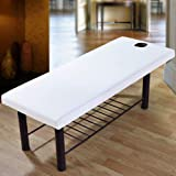 Massage Table Cover Sheet, Elastic All-Round Wrap Massage Bed Cover with Face Hole for Beauty Salon Spa