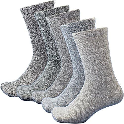 メンズ ザ ブークレー先丸ソックス 柔らかパイルでタオルの様な履き心地 5足組 24.5~27cm