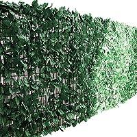 ottostyle.jp グリーンフェンス 緑のカーテン 約3m×1m 【ダークグリーン】 ソフトネットタイプ 目隠し リーフフェンス フェイクグリーン 日よけ サンシェード