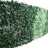 ottostyle.jp グリーンフェンス 緑のカーテン 約2m×1m 【ダークグリーン】 ソフトネットタイプ 目隠し リーフフェンス フェイクグリーン 日よけ サンシェード