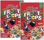 Kellogg's Froot Loops ケロッグ フルーツループ マルチグレイン・シリアル 2箱(2LB 11.6oz)(1.24Kg) [並行