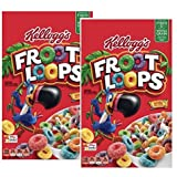 Kellogg's Froot Loops ケロッグ フルーツループ マルチグレイン・シリアル 2箱(2LB 11.6oz)(1.24Kg) [並行輸入品]