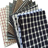 MENDENG Men's 11 Pack Handkerchief Plaid Check Pocket Square Wedding Party Hanky