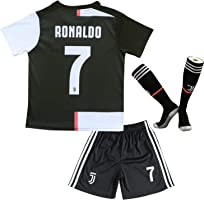 2019/2020 Cristiano Ronaldo Home Home CR7 Juve Juventus Kids Soccer Football Jersey Youth Sizes