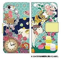 スマホケース 手帳型 iPhone XS ケース 手帳 かわいい 花柄 動物 エレガント デザイン 0012-B. バンビとヤギ [IPHONEXS] カバー アイフォンテン エス ケース 人気 スマホゴ