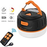 Siivton Camping Lights, LED Tent Light with Remote Control & Power Bank 6400mAh, USB Camping Lantern Rechargeable Ultra Brigh