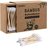 Bamboo Cotton Swabs 200ct | Wooden Cotton Swab | Double Tipped Ear Sticks | Recyclable & Biodegradable cotton buds for Ears |