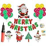 クリスマス 飾りインテリア 飾り付けクリスマス用ガーランド ヘリウムバルーンアルミバルーン 風船クリスマス装飾 サンタクロースさん 雪たるまさん きらきら風船 デコレーション クリスマス装飾Merry Christmas部屋学園祭 写真道具 デコレー