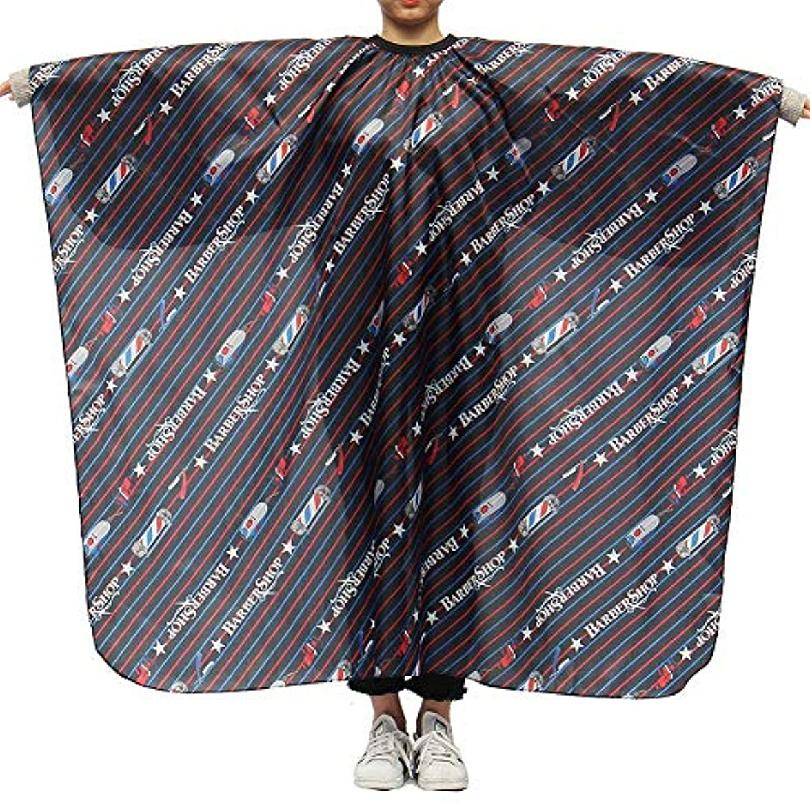 動作酸化する夜Brill(ブリーオ)-ビューティー 理髪ケープ 理髪布 家庭用 店用 通気性 滑らか ポリエステル製