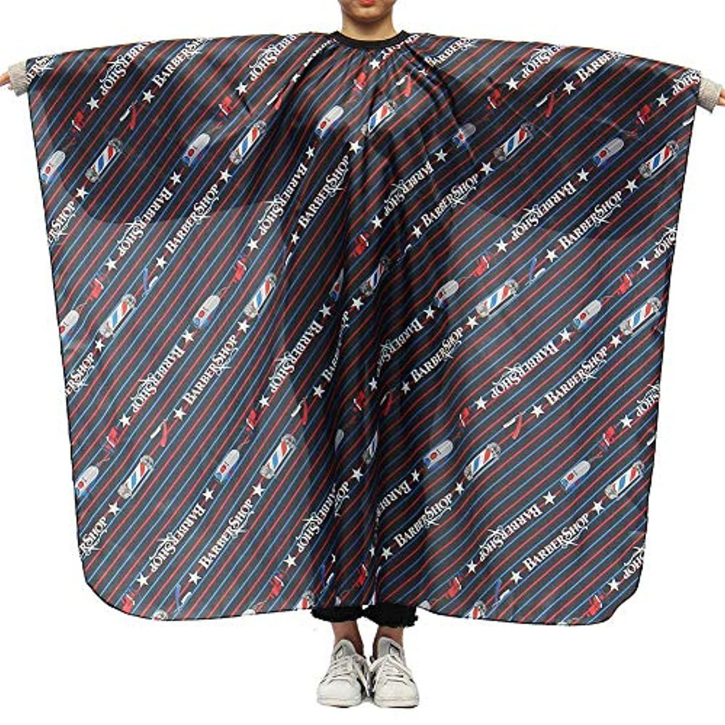 笑有罪好奇心盛Brill(ブリーオ)-ビューティー 理髪ケープ 理髪布 家庭用 店用 通気性 滑らか ポリエステル製