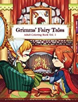 Grimms' Fairy Tales Adult Coloring Book Vol. 1: A Kawaii Fantasy Coloring Book for Adults and Kids: Cinderella Snow White Hansel and Gretel The Frog Prince and Other Stories [並行輸入品]