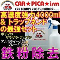 鉄粉除去剤4000ml&トラップネンド 鉄粉クリーナー 鉄粉取り 洗車 業務用 塩カル除去剤 塩化カルシウム除去