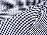 ギンガムチェック広幅(キルティング)紺(中格子6ミリピッチ幅)