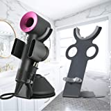 Hair Dryer Holder for Dyson Supersonic, Magnetic Stand Holder with Power Plug Cable Organizer, Aluminum Alloy Bracket, Bathro