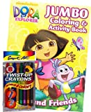 Dora the Explorer Coloring Book Set with twist-upクレヨン