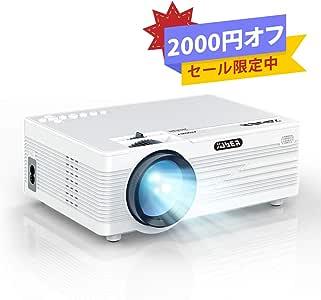 YABER プロジェクター小型3600lm 1920×1080最大解像度 HDMIケーブル付属 天井吊り可能 説明書付き Y10(白)