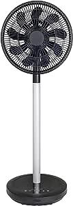 【Amazon.co.jp 限定】 [山善] 扇風機 アレクサ(ALEXA)対応 30cm リビング扇 静電式タッチスイッチ 風量8段階調節 室温センサー DCモーター搭載 リモコン付き ブラック AHX-ALD30(BK) [メーカー保証1年]