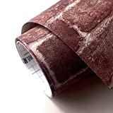 【限定セット】シール式 はがせる壁紙 RILM(リルム) レンガブラウン 508 かんたんシール式壁紙 6mセット 道具付 日本製 DIY 賃貸